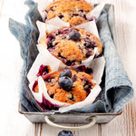 Grain Free Blueberry and Almond Muffins (Breakfast)
