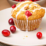 Buttermilk Cranberry Cornmeal Muffins