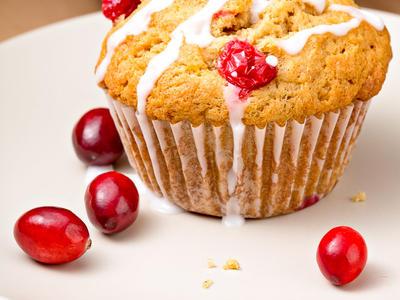 Buttermilk Cranberry Cornmeal Muffins