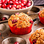 Cranberry Muffins with Sunflower and Pumpkin Seeds