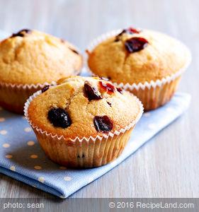 Moist Orange Cranberry Muffins