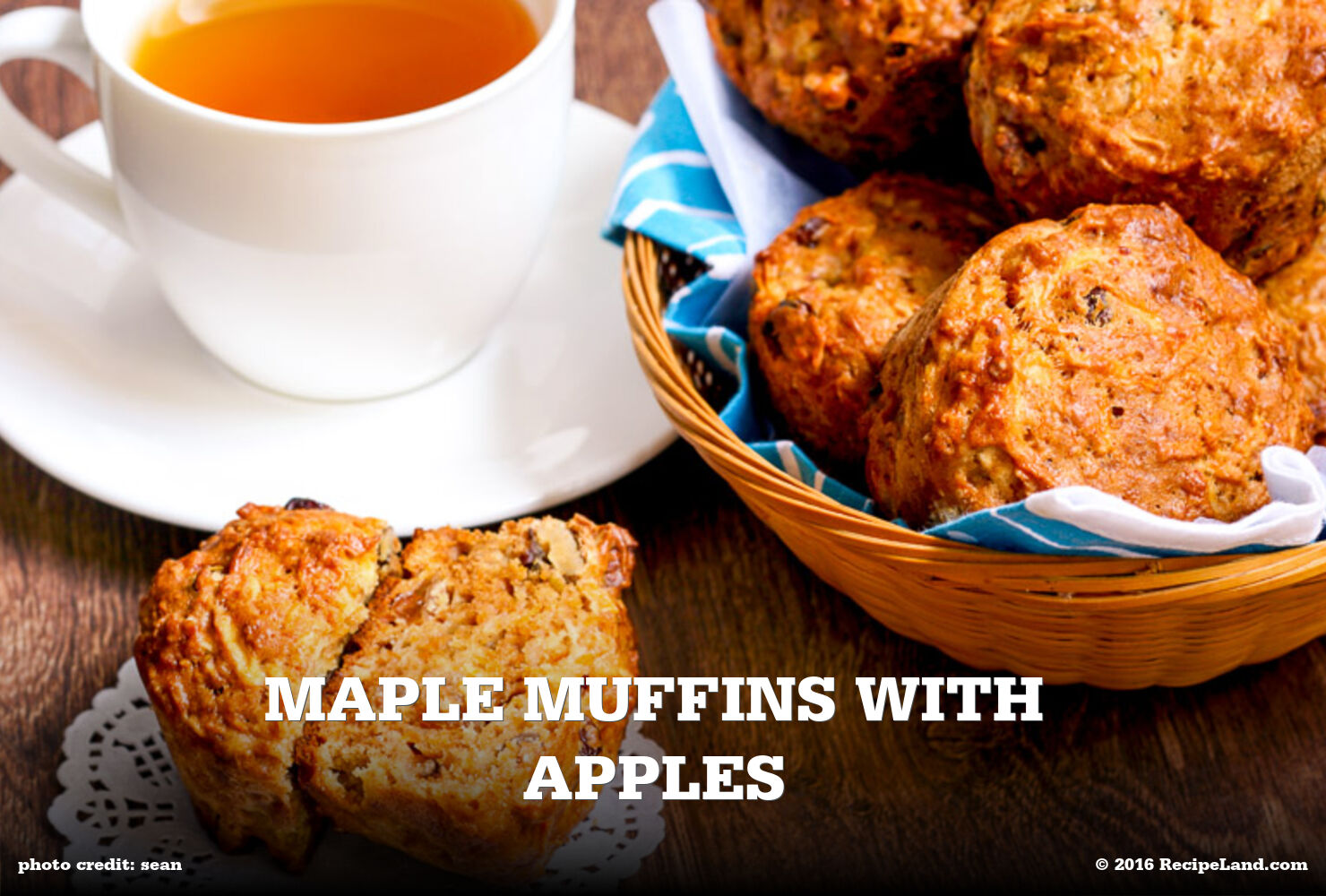 Maple Muffins with Apples