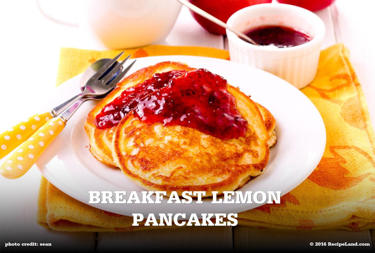 Breakfast Lemon Pancakes