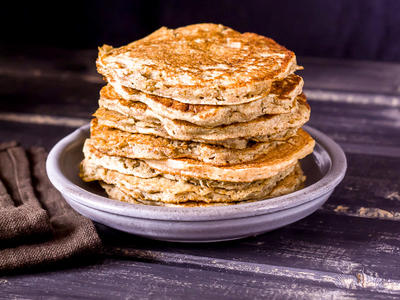 High-Fibre Apple Pancakes