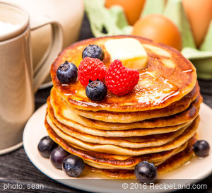 Pancakes(Using Wheat Quick Mix)