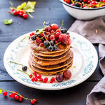 Almost Whole Wheat Sour Cream Pancakes