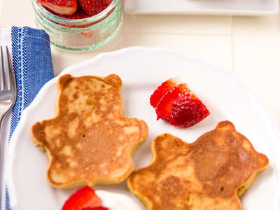 Almost Whole Wheat Breakfast Pancakes