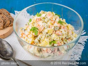 Stolichnyi Salat - Table Salad or Russian Salad