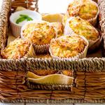 Dilly Zucchini Ricotta Muffins