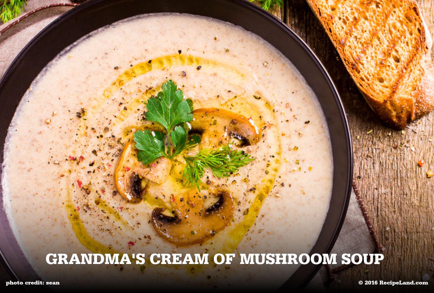 Grandma's Cream of Mushroom Soup