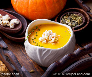 Winter Squash Soup with Cinnamon and Cloves