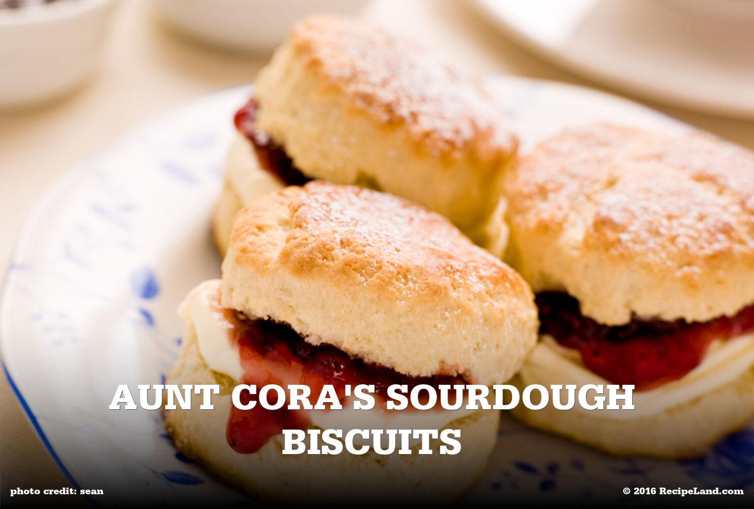 Aunt Cora's Sourdough Biscuits