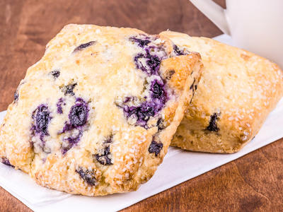Blueberry Oatmeal Drop Biscuits