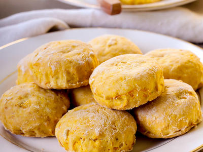 Yeast Pumpkin Biscuits