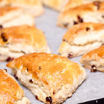 Buttery Cranberry Lemon Scones