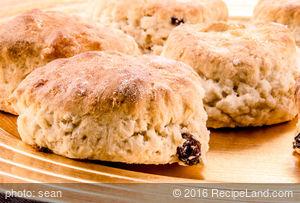 Buttermilk Oatmeal Raisin Biscuits
