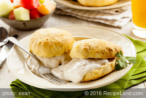 Awesome Breakfast Biscuits and Sausage Gravy