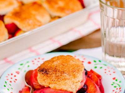 Biscuit-Style Peach Cobbler