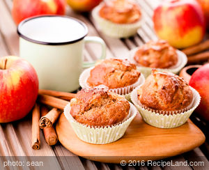 Breakfast Raw Apple Muffins