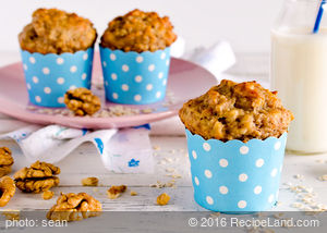 Alice's Banana Nut Oatmeal Muffins