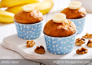 Best Banana Ginger Bran Muffins