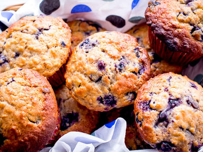 Blueberry Bran Honey Muffins