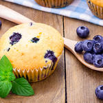 Almost Whole Wheat Lemon and Berry Muffins
