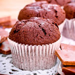 Applesauce Cocoa Muffins