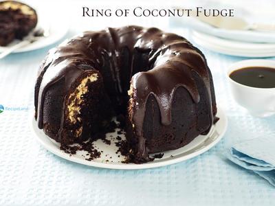 Ring of Coconut Fudge Cake