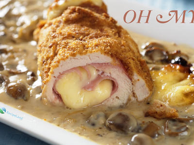 Chicken Cordon Bleu with Creamy Mushroom Sauce