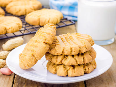 Homemade Slice and Bake Peanut Butter Cookies