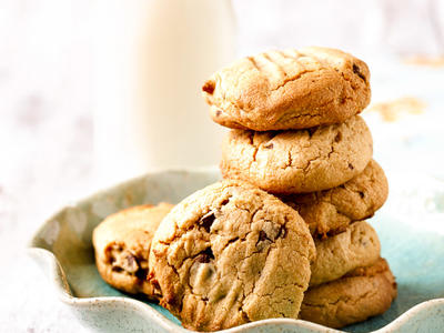 Chocolate Chip Peanut Butter and Honey Cookies