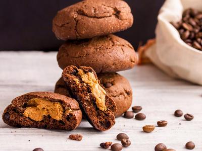 Double Chocolate Peanut Butter Surprise Cookies