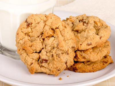 Chunky Peanut Chocolate Chip  Cookies