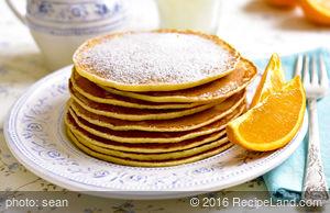 Egg White Honey Pancakes