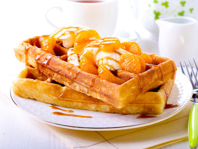 Super Delish Raised Waffles