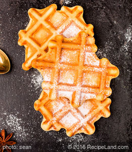 Autumn Pumpkin Waffles