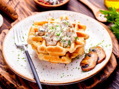 Very Healthy Breakfast Waffles