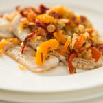 Baked Fish with Quick Tomato Confit