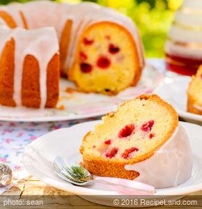 Berry Almond Bundt Cake