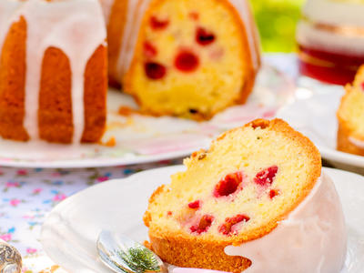 Berry Almond Bundt Cake