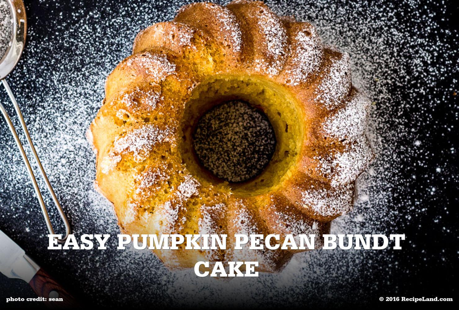 Easy Pumpkin Pecan Bundt Cake