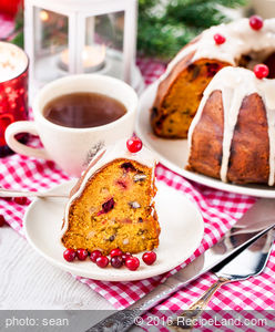 Cranberry-Pecan Holiday Pound Cake