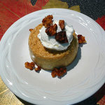 Pumpkin Maple Custards with Honey Glazed Walnuts