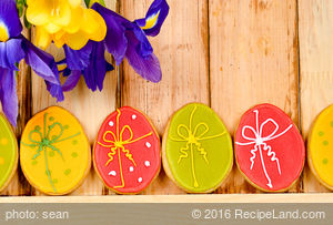 Cute Easter Egg Cookies