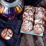 Deep Dark Chocolate Fudge Cookies