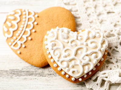 Delicate Heart Sugar Cookies