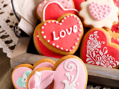 Beautiful Heart Sugar Cookies