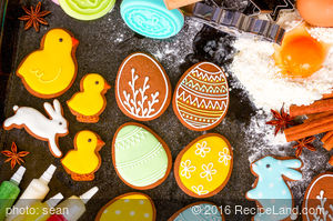 Eggless Rolled Ginger Cookies For Easter