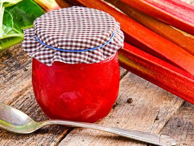Grandma's Rhubarb Jam (Freezer Jam)